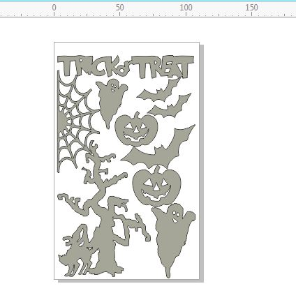 trick or treat 110 x 180mm  Halloween ,ghost,pumpkin, MIN Buy 3